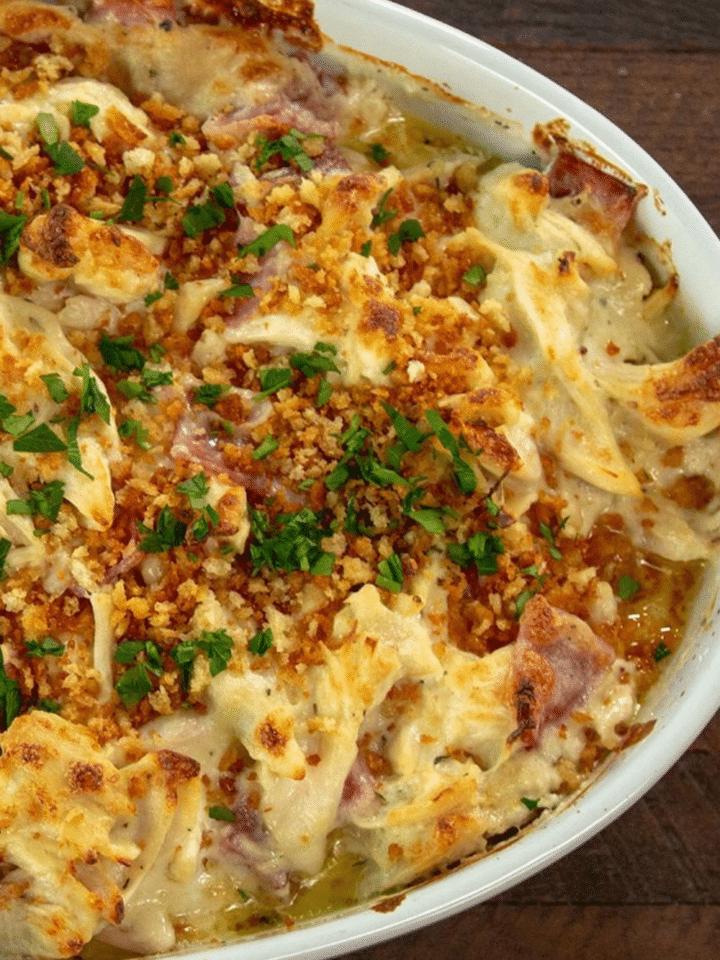 Easy Keto Recipes Chicken Cordon Bleu Casserole