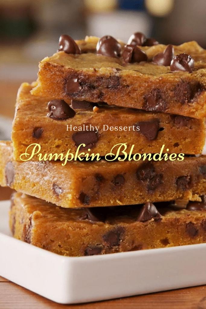 Pumpkin Blondies Weight Watchers Healthy Dessert