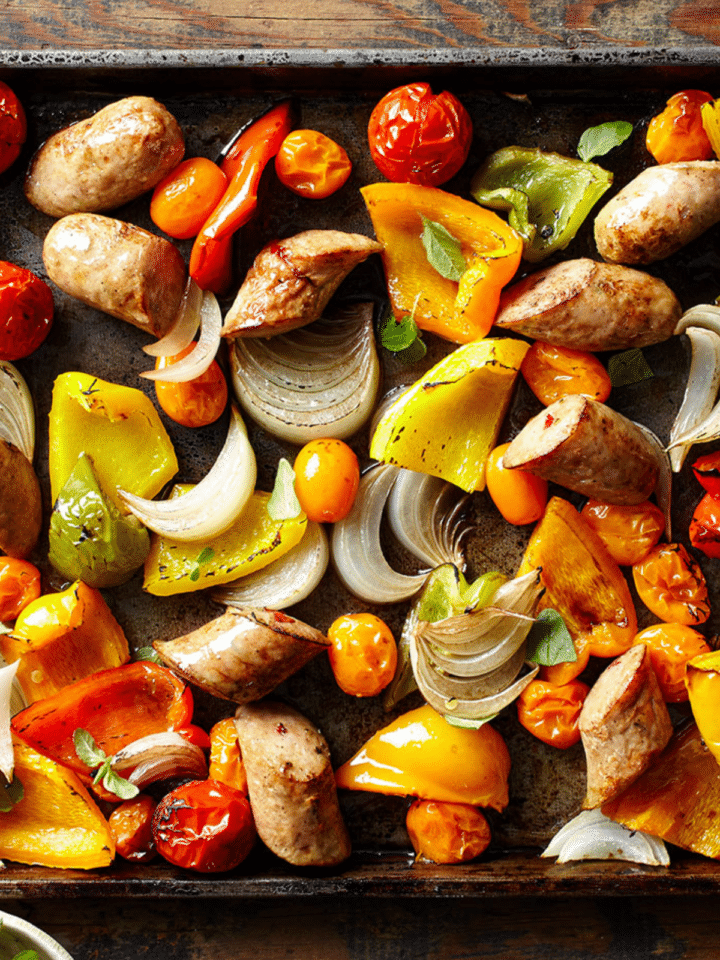 One Pan Chicken Sausage With Roasted Vegetables