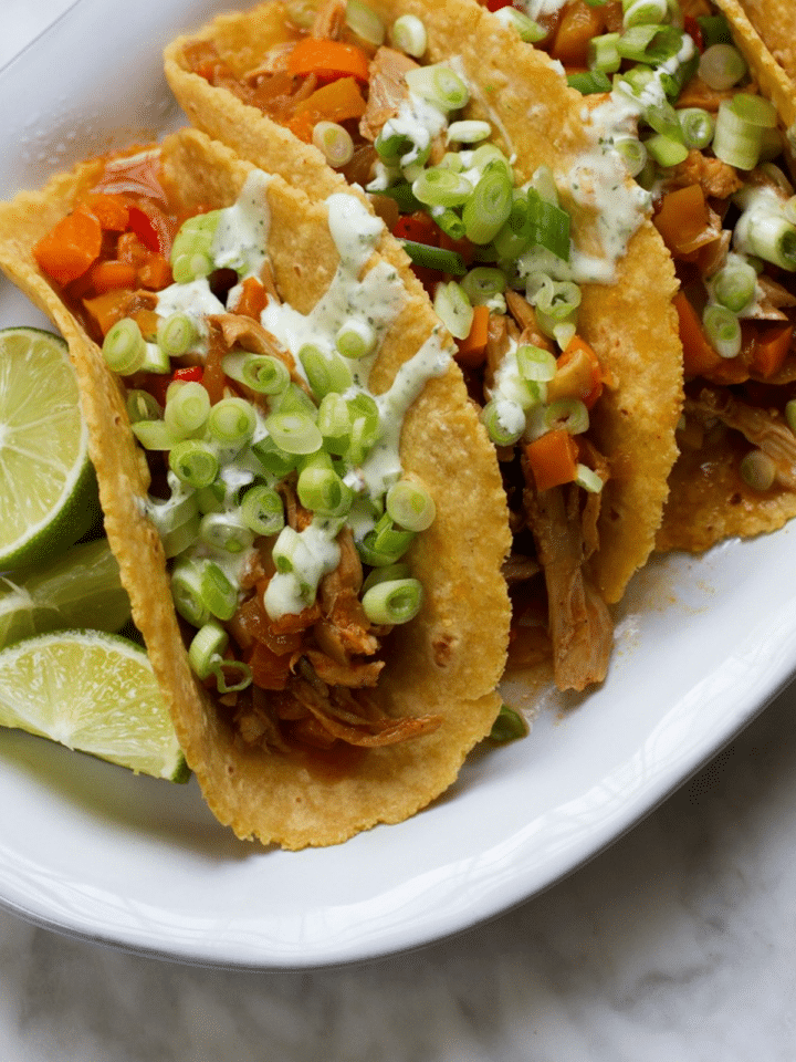 A Healthy And Delicious Baked Chicken Tacos