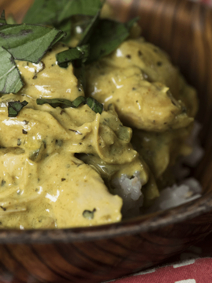 Exotic Thai Basil Chicken Curry